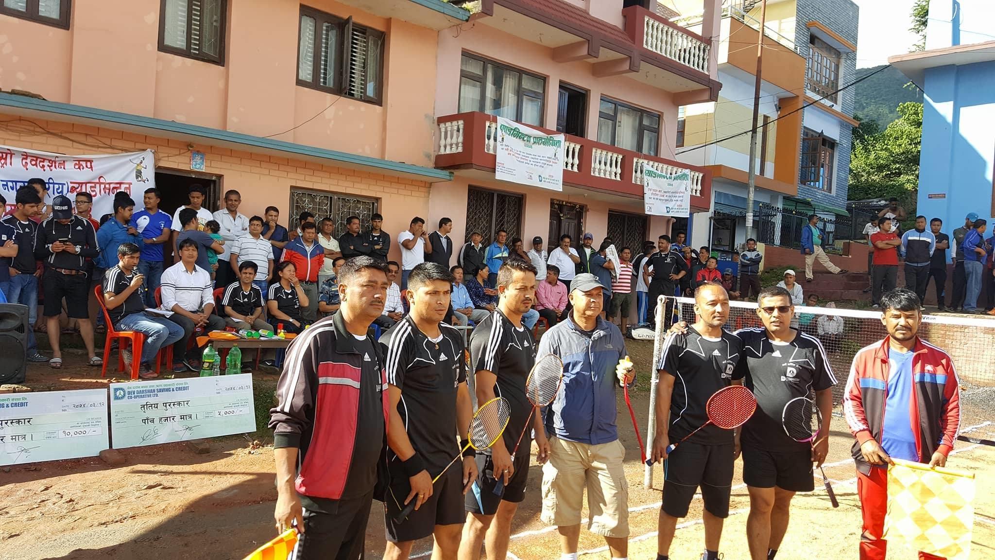Chandragirinews 19531855_1715758775119181_1639103312_o दोश्रो देवदर्शन कप ब्याडमिण्टनकको उपाधी पुष्ष खड्का र पवन अधिकारीको जोडीलार्इ, राजन पोखरेल उत्कृष्ठ खेलाडी खेलकुद नगरपालिका बैक / सहकारी संस्था ब्रेकिंग न्युज मुख्य वडा    chandragiri