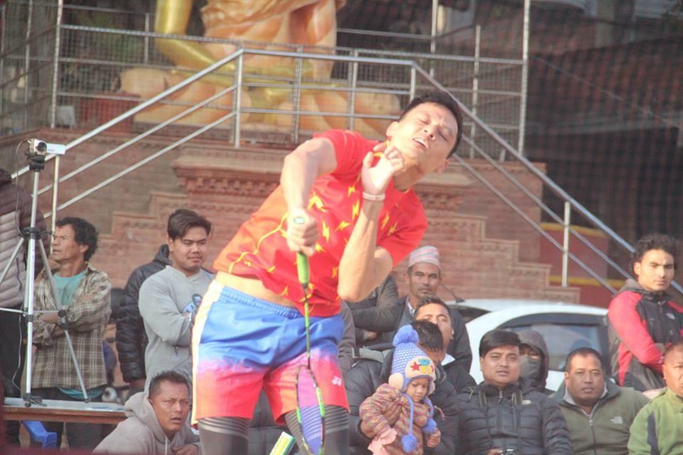 Chandragirinews boshigaun-badminton-semifinal-5 प्रथम बोसीगाउ खुल्ला पुरुष डबल्स ब्याडमिन्टन  प्रतियोगिता,  आचार्य, श्रेष्ठको  जोडी र कटवाल, बोहराको  जोडी उपाधीका लागि भिड्दै खेलकुद बोसिंगाउँ    chandragiri