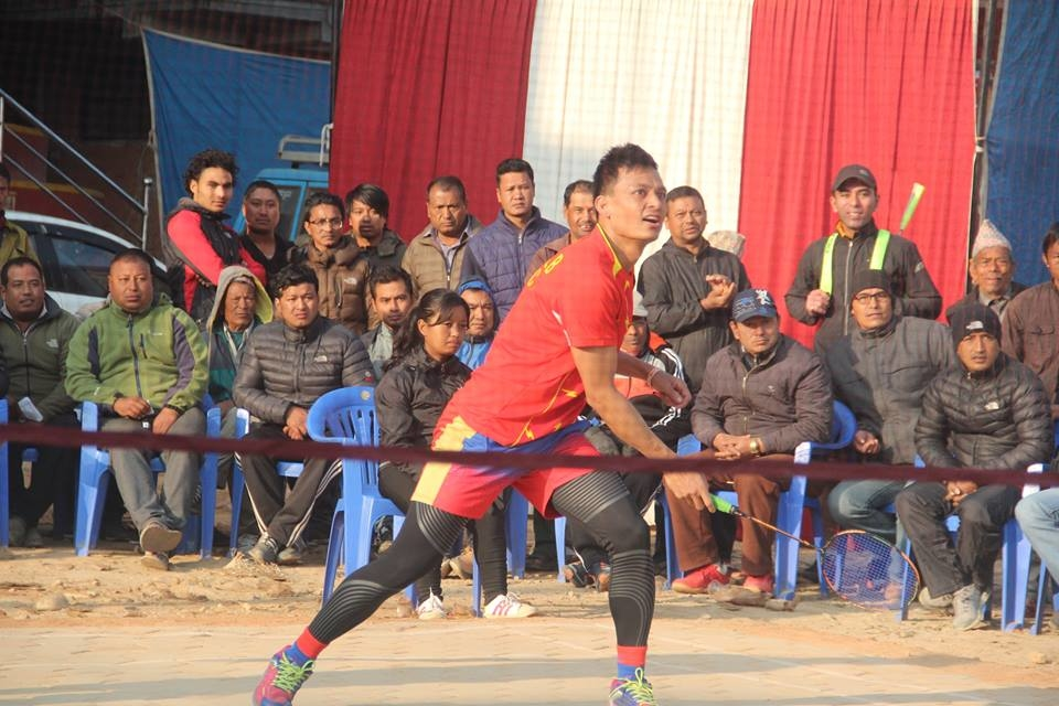Chandragirinews boshigaun-badminton-semifinal-6 प्रथम बोसीगाउ खुल्ला पुरुष डबल्स ब्याडमिन्टन  प्रतियोगिता,  आचार्य, श्रेष्ठको  जोडी र कटवाल, बोहराको  जोडी उपाधीका लागि भिड्दै खेलकुद बोसिंगाउँ    chandragiri
