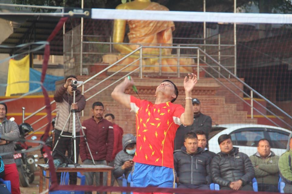 Chandragirinews boshigaun-badminton-semifinal-8 प्रथम बोसीगाउ खुल्ला पुरुष डबल्स ब्याडमिन्टन  प्रतियोगिता,  आचार्य, श्रेष्ठको  जोडी र कटवाल, बोहराको  जोडी उपाधीका लागि भिड्दै खेलकुद बोसिंगाउँ    chandragiri