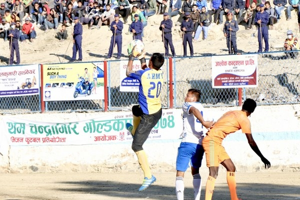 Chandragirinews gold-cup-2nd-semi-final-3_600x400 हिमालयन शेर्पा चन्द्रागिरी गोल्डकपको फाइनलमा खेलकुद नैकाप नयाँ भन्ज्यांग नैकाप पुरानो भन्ज्यांग    chandragiri