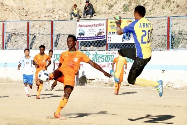 Chandragirinews gold-cup-2nd-semi-final-5_600x400 हिमालयन शेर्पा चन्द्रागिरी गोल्डकपको फाइनलमा खेलकुद नैकाप नयाँ भन्ज्यांग नैकाप पुरानो भन्ज्यांग    chandragiri