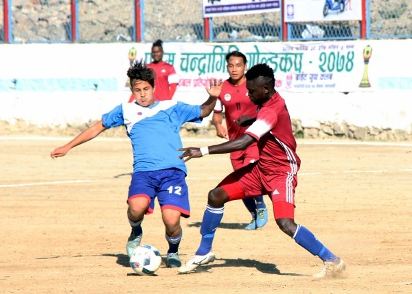 Chandragirinews semifinal-2 फ्रेण्डस् चन्द्रागिरी गोल्डकपको फाइनलमा खेलकुद नैकाप नयाँ भन्ज्यांग नैकाप पुरानो भन्ज्यांग    chandragiri