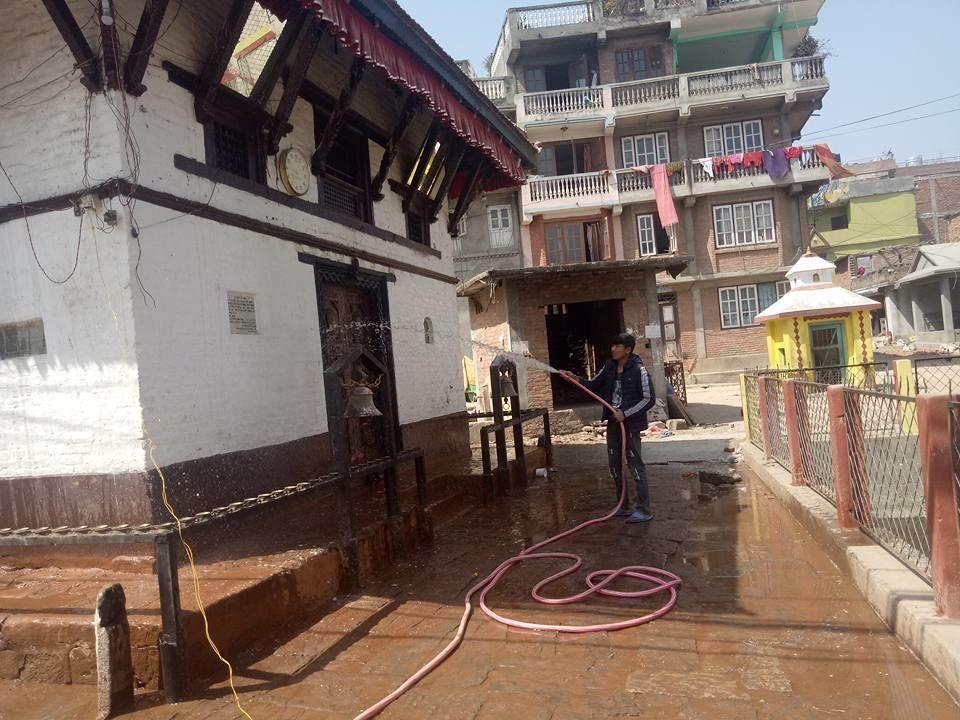 Chandragirinews kisipidi2 किसिपिडी मन्दिर क्षेत्रमा सरसफाई किसीपिँडी वडा    chandragiri