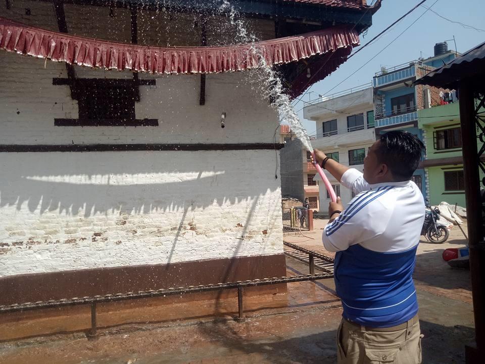 Chandragirinews kisipidi3 किसिपिडी मन्दिर क्षेत्रमा सरसफाई किसीपिँडी वडा    chandragiri