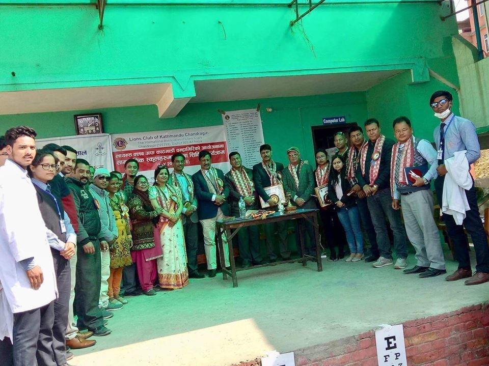 Chandragirinews lions2 लाईन्स कल्व अफ काठमाडौ चन्द्रागिरि द्वरा  अाखाँ सिविरकाे  उद्घघाटन । बलम्बु    chandragiri