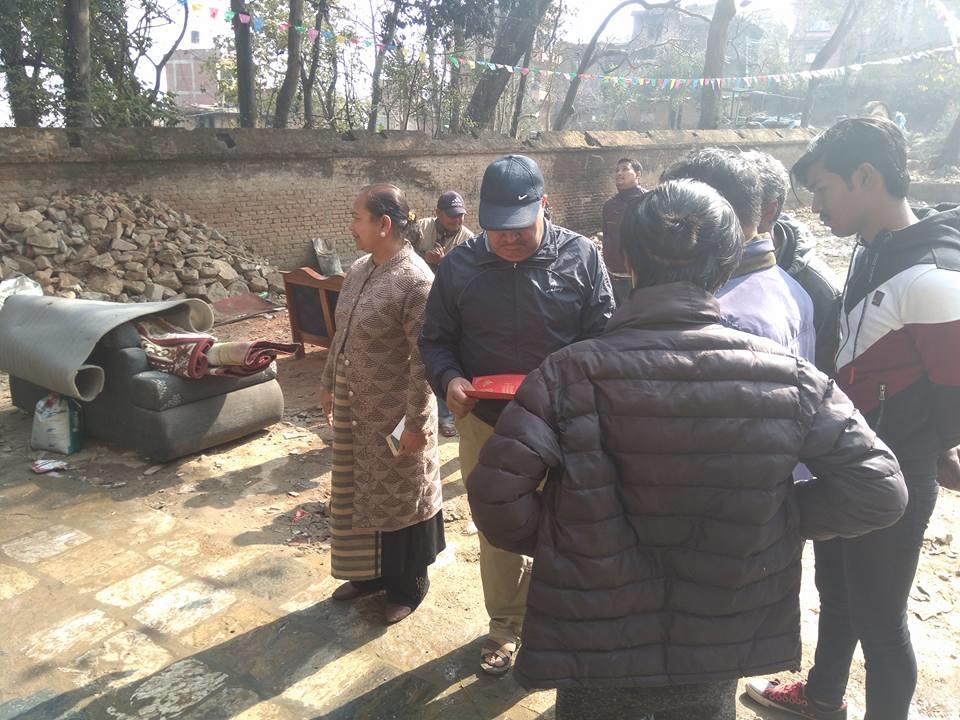 Chandragirinews machaegaun मच्छेनारायण मन्दिर पश्चिमपट्टीको बाटोमा ढुंगाछपाई मछेगाउँ    chandragiri