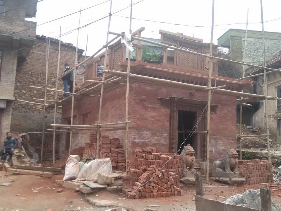 Chandragirinews bishnu-devi-mandir मछेगाउँमा विष्णुदेवी मन्दिर पुननिर्माण हुदै मछेगाउँ    chandragiri