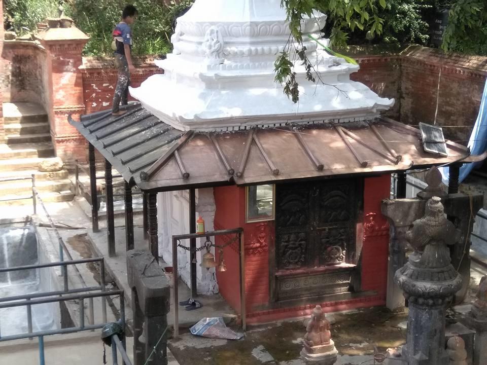 Chandragirinews machaegaun4 मछेगाउँ मन्दिर क्षेत्रमा पुन: निर्माण मछेगाउँ    chandragiri