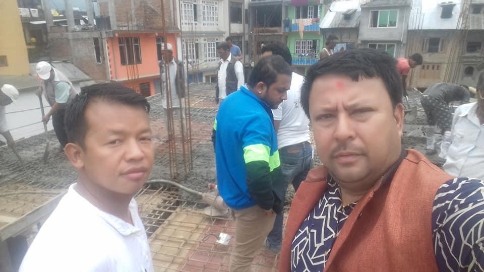 Chandragirinews balambu-kwathae-home3 चन्द्रागिरी नगरपालिकाको वडा १२बलम्बु स्थित काेतघर पहिलो तल्ला को धलान सम्पन्न! बलम्बु    chandragiri